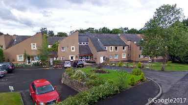 Priorwood Court sheltered housing complex in Melrose, Borders