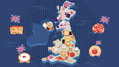 UK Cake and Biscuit Map