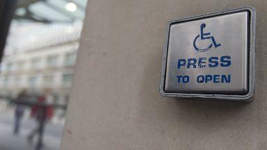 GV of a wheelchair access door