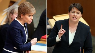 Nicola Sturgeon and Ruth Davidson 2017