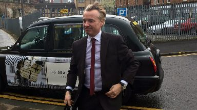 Craig Whyte arrives at High Court in Glasgow for Rangers takeover fraud trial