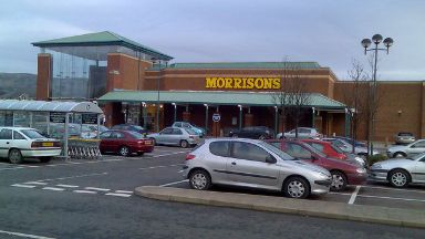 Morrisons Dumbarton stock image uploaded permission Friday April 21 2017