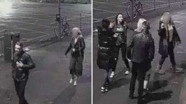 CCTV images after couple attacked on Pacific Drive outside STV studios on December 4 2016 in Glasgow