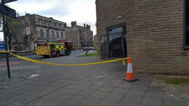 Fire at Dumbarton Crown Office, 23/4/17.