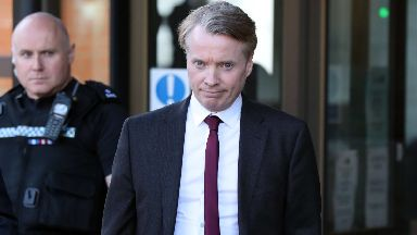 Craig Whyte leaving the High Court in Glasgow during his Rangers takeover fraud trial