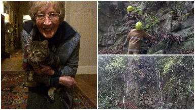 Cat called Cambus rescued from quarry in Stirling.