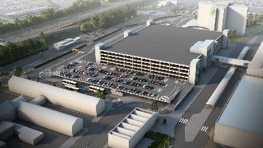 Glasgow Airport drop-off/pick-up centre artist's impression