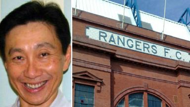 Composite of Singaporean businessman Bill Ng and Ibrox GV