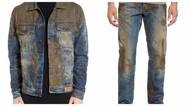 The jacket and jeans as advertised on the website.