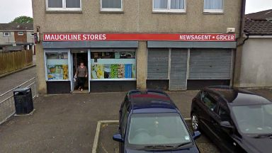 Mauchline Stores in East Dunbartonshire which was robbed by Thomas Marshall
