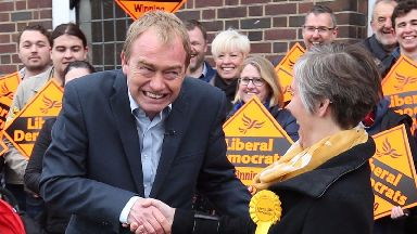 Tim Farron mocked for asking a campaigner to 'smell my spaniel'