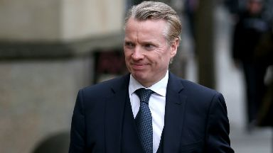 Former Rangers owner Craig Whyte arriving at High Court in Glasgow for fraud trial