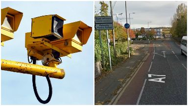 Collage of average speed camera on old dalkeith road, Edinburgh.