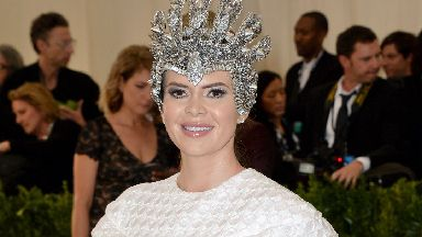 Carly Steel at the Met Gala in New York May 2017 wearing House of Halos crown