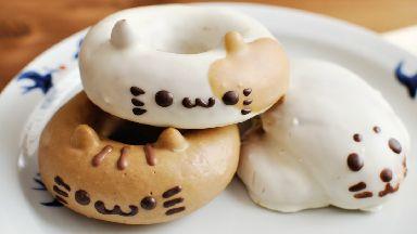 Cat and Seal shaped Doughnuts