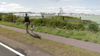 Planning application document for Andy Scott's steel bear sculpture near Dunbar