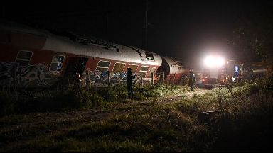 Derailment: Train crash in village of Adendro.
