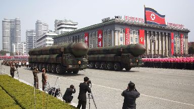 North Korea 'launches ballistic missile'