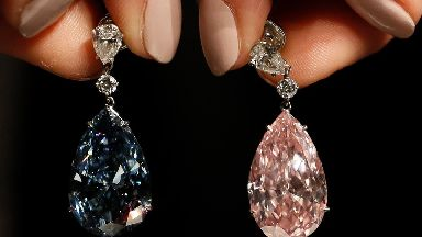 Diamond earrings sell for more than £44m at Sotheby's