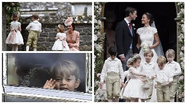 George and Charlotte have starring role at Pippa's wedding