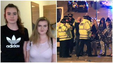Friends Eilidh MacLeod and Laura MacIntyre from Barra, collage of Manchester attacks