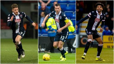 L-R: Jonathan Franks, Paul Quinn and Oscar Gobern will leave the Staggies.