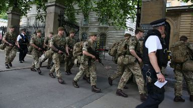 Soldiers, Army, armed police Buckingham Palace May 24, 2017