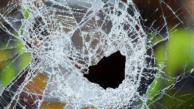 Smashed glass stock/generic image from PA
