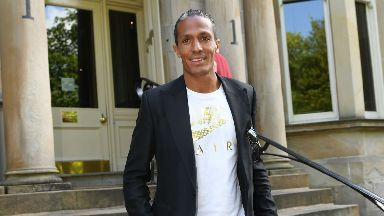 Bruno Alves arrives in Glasgow