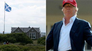 Donald Trump / saltire flag at Menie Estate in Aberdeenshire