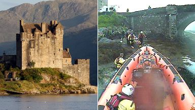 Eilean Donan Castle RNLI lifeboat rescue in June 2017