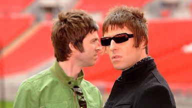 Liam Gallagher, seen in 2008, said his older brother had become 'part of the establishment'.