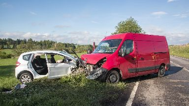 Crash: Alexander Ogg, 67, died in the collision on the A96 in Aberdeenshire.