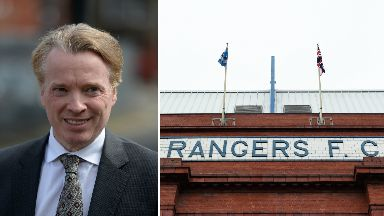 Craig Whyte former Ranger owner and Ibrox GV composite