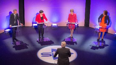 Scotland Debates Scottish leaders debate Sturgeon Davidson Dugdale Rennie #scotdebates