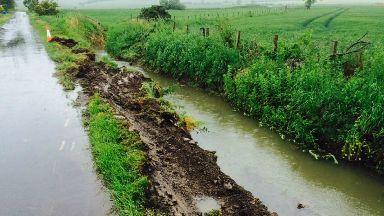 Crash: Tractor overturned in Fife.