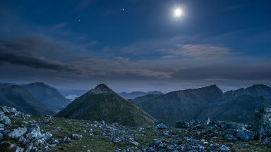 Midnight in Glen Coe by Allan Donald for Scotland from the Roadside