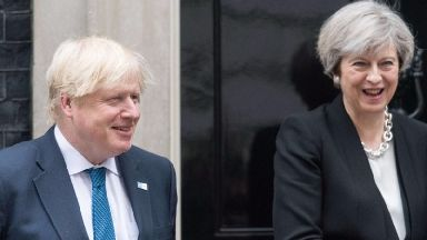 Boris Johnson and Theresa May.