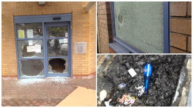 Vandalism to Liberton Medical Group building GP surgery June 12 2017