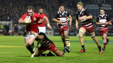 Blow: Hogg has been forced to pull out of the Lions squad.