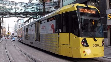 Manchester is served by Metrolink Trams.