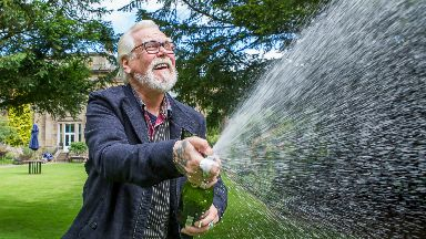 Bill Bett, 69, of Markinch, Fife, who won £1m on National Lottery Monopoly scratchcard
