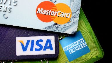 Generic/stock image of Visa, Mastercard and American Express cards/credit cards