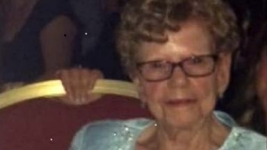 Mary Porter, woman who died after falling on bus which braked suddenly. Husband Bob also hurt.