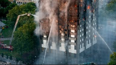 Fire at Grenfell Tower.