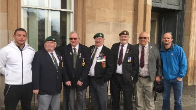 The group of veterans at Dundee Sheriff Court