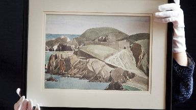 Rare Charles Rennie Mackintosh watercolour Road Through the Rocks sold for £65,000