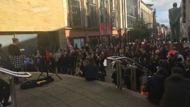 Hundreds attend George Square protest