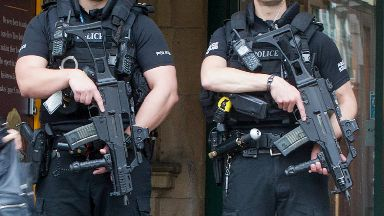 quality generic armed police (at Edinburgh Waverley Train Station) file pic uploaded Tuesday June 20 2017