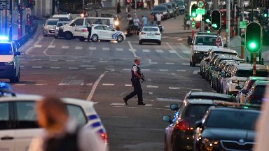Police secure the scene